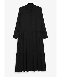 Maxi-Shirt-Kleid Black Magic