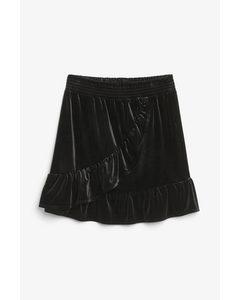 Ruffle Mini Skirt Black Magic