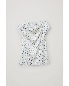 Organic Cotton Droplet Print Tunic Top White