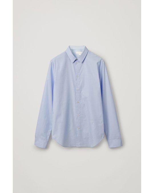 COS Straight Slim-fit Shirt Light Blue