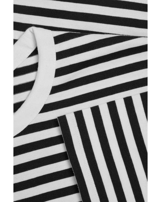 COS Organic Cotton Contrast Stripe T-shirt Navy / White