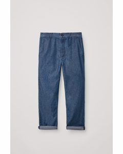 Denim Chino Trousers Light Blue