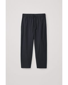 Oversized Lightweight Trousers Navy