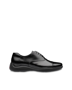 Prada Leather Oxfords Black