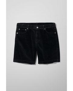 Vacant Cord Shorts Black