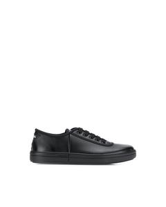 Prada Logo Leather Sneakers Black