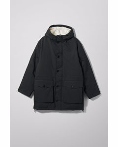 Omar Oversized Parka Black