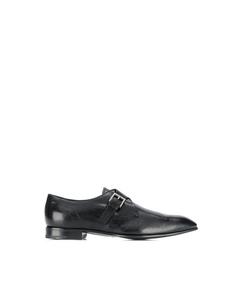 Prada Monk Leather Shoes Black