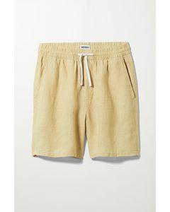 Olsen Linen Shorts Light Yellow