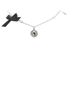 Dior Silver-tone Charms Necklace Silver