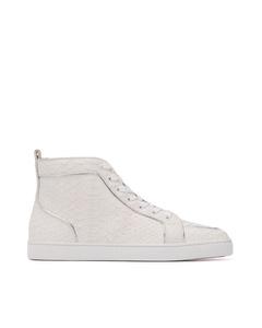 Christian Louboutin Rantus Flat Leather Sneakers White