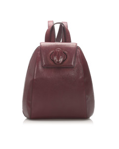 Cartier Must De Cartier Leather Backpack Red