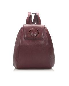 Cartier Must De Cartier Leather Backpack Red