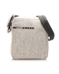 Prada Sports Canvas Crossbody Bag Brown