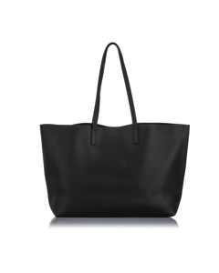 Ysl East West Leather Shopping Tote Bag Black