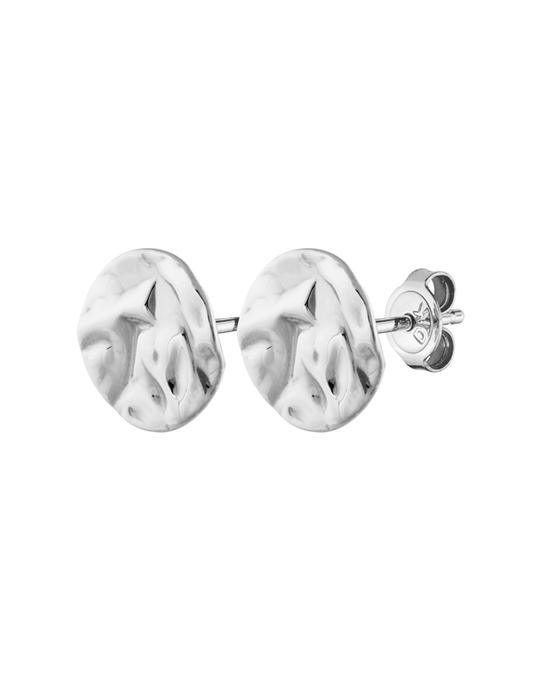 Dyrberg/Kern Naturi Shiny Silver Polished Brass Earring, Silver Tone.