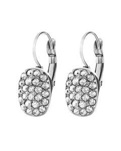 Jojo Ss Crystal Polished Brass, Silvertone Finish And Crystals