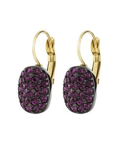 Jojo Gm Purple Gunmetal Tone Brass, Handset Crystals