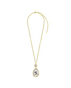 Verity Sg Crystal Brass, Goldtone And Polished, With Crystals And Stones