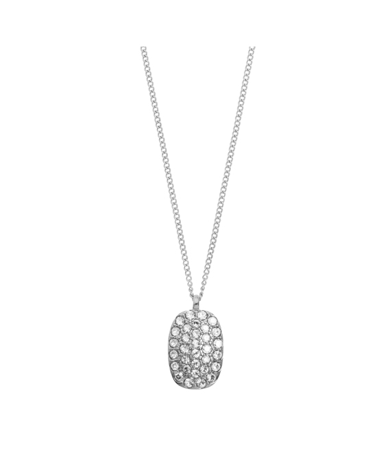 Dyrberg/Kern Izoro Ss Crystal Polished Brass, Silvertone Finish And Crystalssilver