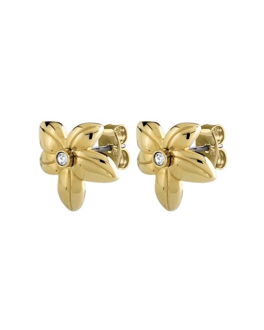 Dyrberg/Kern Yann Sg Crystal Brass, Goldtone And Polished With Crystals