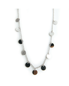 Coin Necklace 42 Cm S Silver