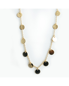Coin Necklace 42 Cm G Gold