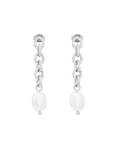 Palma Chain Earring Silver