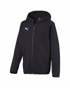 Liga Casuals Hoody Jacket Jr Puma Black-puma White
