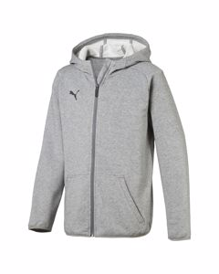 Liga Casuals Hoody Jacket Jr Medium Gray Heather