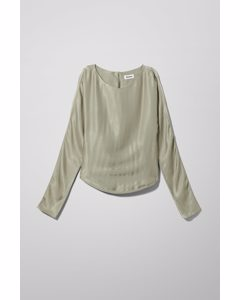 Ism Satin Top Green