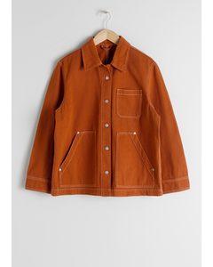 Denim Workwear Jacket Rust