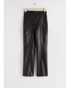 Soft Leather Trousers Black