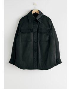 Oversized Padded Technical Jacket Black