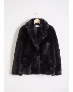 Faux Fur Jacket Black