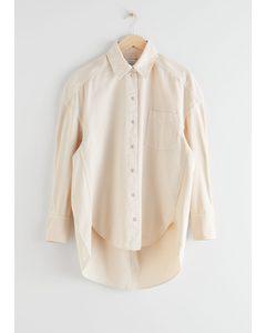 Oversized Denim Shirt Creme