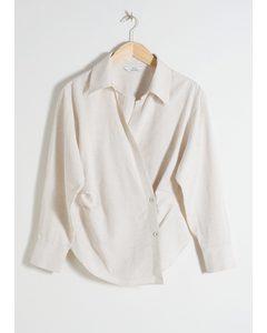 Wrap Duo Button Shirt Beige
