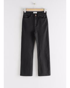 Straight Fit Stretch Jeans Black