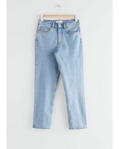 Straight Stretch Jeans Light Blue