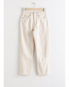 Straight High Rise Jeans White