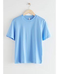 Boxy Organic Cotton T-shirt Light Blue