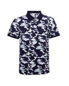 Asquith & Fox Mens Short Sleeve Camo Print Polo Shirt