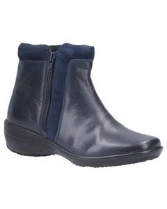 Fleet & Foster Womens/ladies Mona Zip Ankle Leather Boot
