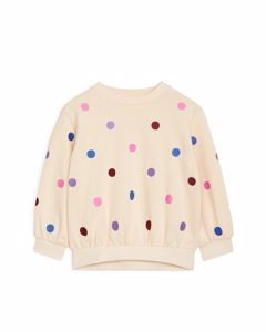 Embroidered Sweatshirt Light Beige/multicolour