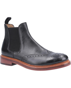 Cotwold Mens Siddington Leather Elasticated Dress Boot