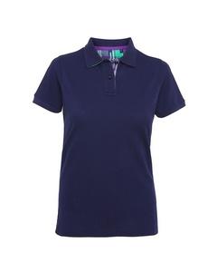 Asquith & Fox Dames/dames Check Trim Polo Shirt