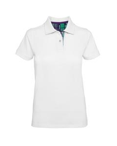 Asquith & Fox Womens/ladies Check Trim Polo Shirt