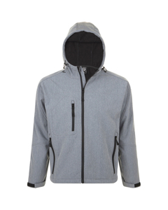 Sols Heren Replay Hooded Soft Shell Jacket (ademend, Winddicht En Waterbestendig)