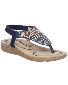 Fleet & Foster Womens/ladies Mulberry Elastic Leather Sandal