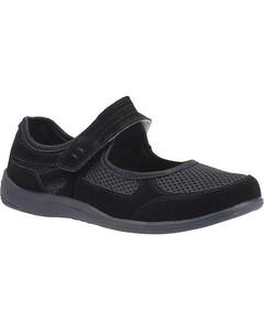 Fleet & Foster Womens/ladies Morgan Touch Fastening Suede Shoe